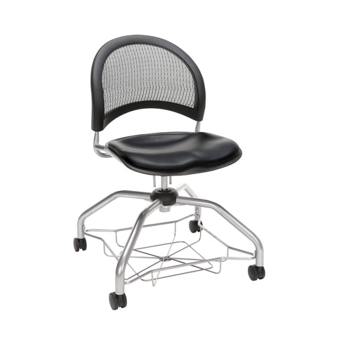 OFM Moon Foresee Series Chair with Removable Vinyl Seat Cushion - Student Chair, Black (339-VAM) ; UPC: 845123094563 ; Image 1