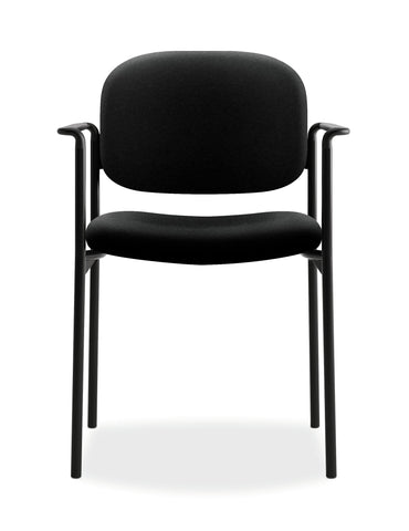 HON Scatter Guest Chair - Upholstered Stacking Chair with Arms, Office Furniture, Black (VL616) ; UPC: 645162996220 ; Image 2