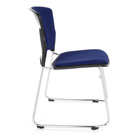 OFM Multi-Use Stack Chair with Fabric Seat, Navy ; UPC: 811588013845 ; Image 4