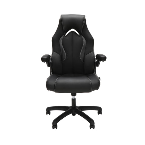 OFM Essentials Collection High-Back Racing Style Bonded Leather Gaming Chair, in Black (ESS-3086-BLK) ; UPC: 192767002554 ; Image 2
