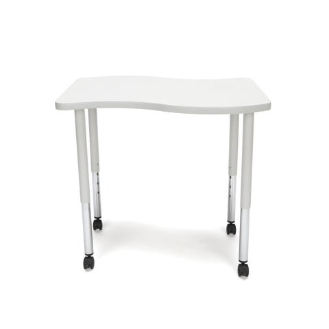 OFM Adapt Series Small Wave Standard Table - 25-33? Height Adjustable Desk with Casters, Gray Nebula (WAVE-S-LLC) ; UPC: 845123097083 ; Image 3