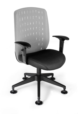 OFM Vision Executive Guest Chair - Mesh Back Conference Chair, Light Gray (655-2705) ; UPC: 845123005873 ; Image 1