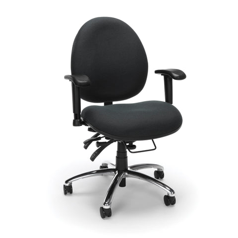 OFM 24 Hour Big and Tall Ergonomic Task Chair - Computer Desk Swivel Chair with Arms, Charcoal (247) ; UPC: 811588013029 ; Image 1