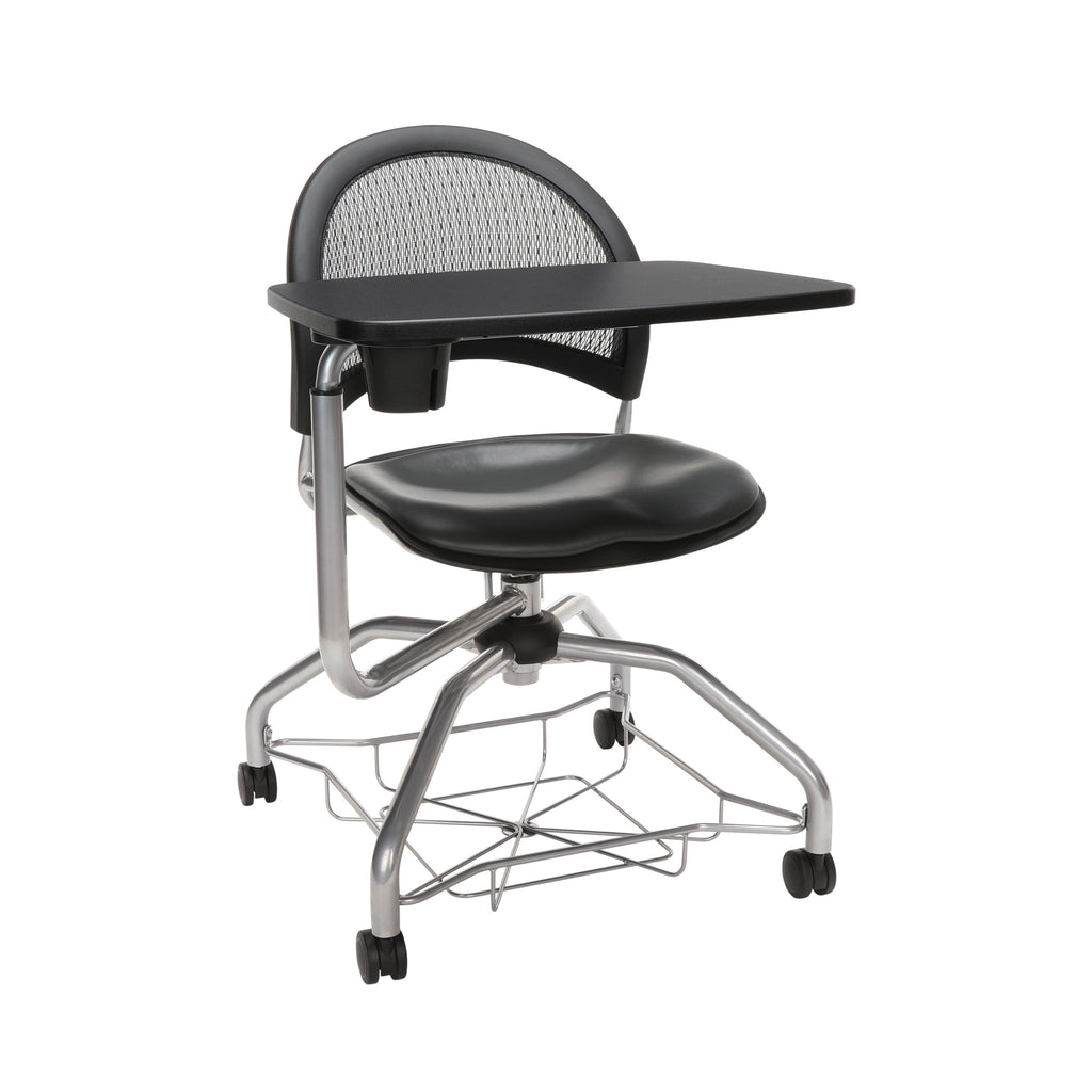 OFM Moon Foresee Series Tablet Chair with Removable Vinyl Seat Cushion - Student Desk Chair, Charcoal (339T-VAM) ; UPC: 845123094761 ; Image 1