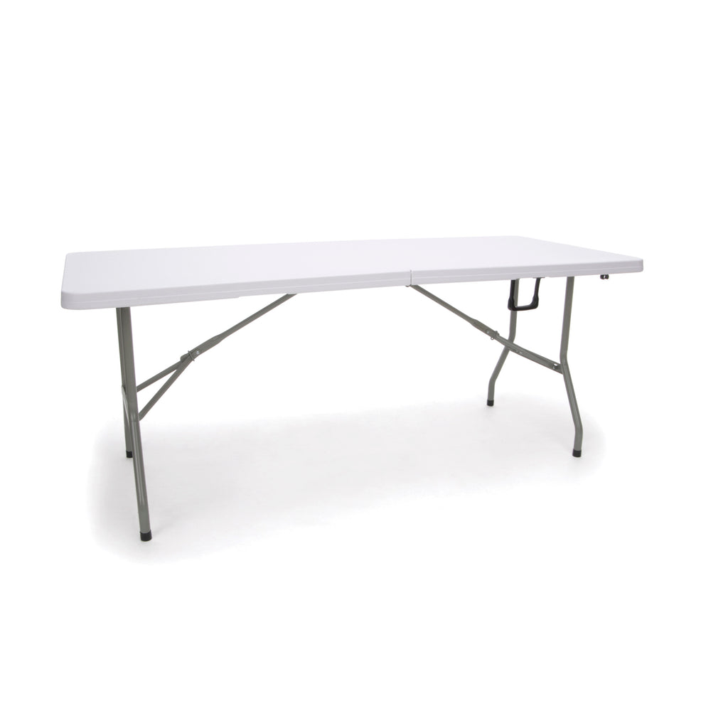 Essentials by OFM ESS-5072F 6' Blow Molded Center-Folding Utiity Table, White ; UPC: 845123089217 ; Image 1