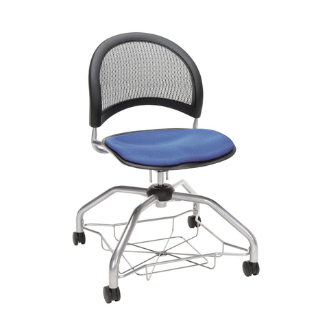 OFM Moon Foresee Series Chair with Removable Fabric Seat Cushion - Student Chair, Colonial Blue (339) ; UPC: 845123094389 ; Image 1