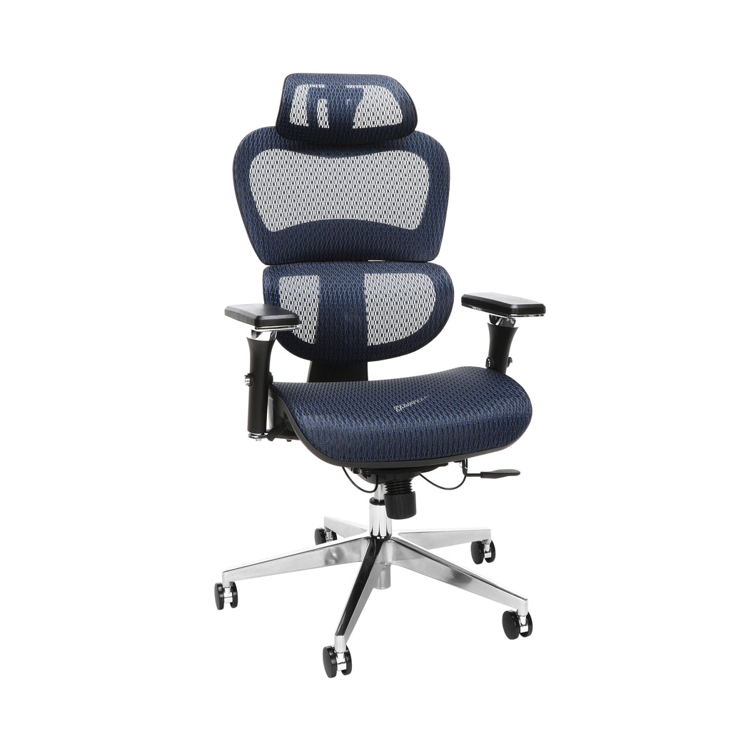 OFM Model 540-BLU Core Collection Ergo Mesh Office Chair with Head Rest for Computer Desk, Blue ; UPC: 192767000376 ; Image 1