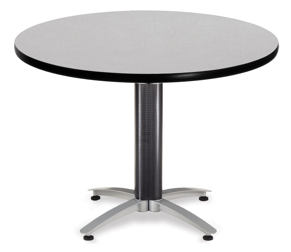 "OFM Model MT42RD 42"" Multi-Purpose Round Table with Metal Mesh Base, Gray Nebula ; UPC: 811588010431 ; Image 1"