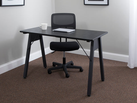 "OFM Essentials Collection 48"" Table Desk, Black Woodgrain (ESS-1050-BLK-BLK) ; UPC: 192767000123 ; Image 12"