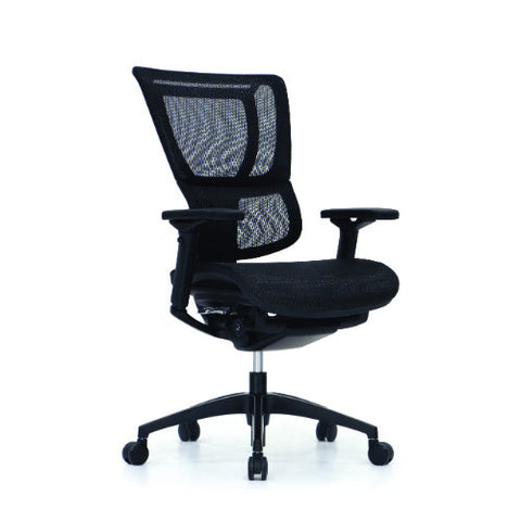 iOO Eurotech Office Ergonomic Chair Black Mesh and Black Frame (NO Head Rest) ; Angle View ; UPC: 669245996679