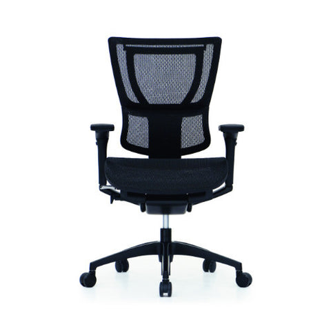 iOO Eurotech Office Ergonomic Chair Black Mesh and Black Frame (NO Head Rest) ; Front View ; UPC: 669245996679