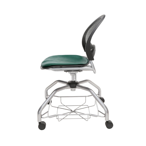 OFM Moon Foresee Series Chair with Removable Vinyl Seat Cushion - Student Chair, Teal (339-VAM) ; UPC: 845123094525 ; Image 5