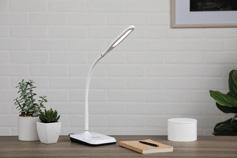 OFM 4015-8PK-WHT LED Desk Lamp with Touch Activated Switch and Integrated Wireless Charging Station, White (Pack of 8) ; UPC: 192767001281 ; Image 12