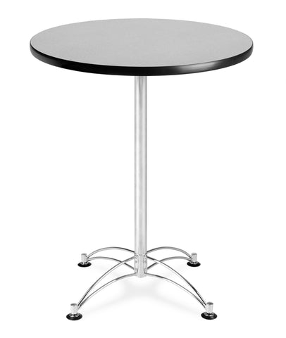 "OFM Model CCLT30RD 30"" Round Cafe Height Table, Gray Nebula with Chrome Base ; UPC: 845123006399 ; Image 1"