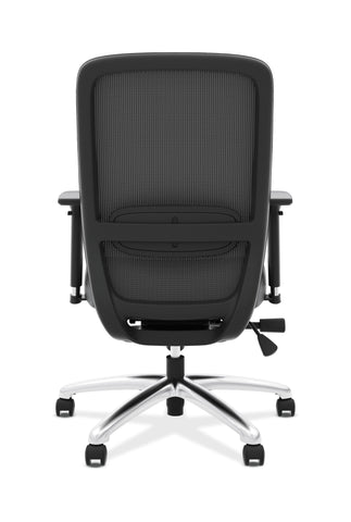 HON Exposure Mesh Task Chair - Mesh High-Back Computer Chair with Leather Seat for Office Desk, Black (HVL721) ; UPC: 089191242994 ; Image 3