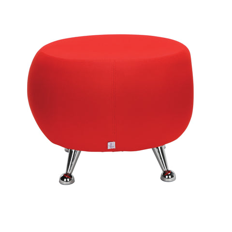 OFM Jupiter Series Fabric Ball Stool, in Red (2001-2312) ; UPC: 845123053324 ; Image 3