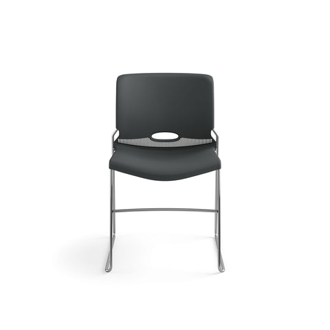 HON Olson Stacking Chair - Guest Chair for Office, Cafeteria, Break Rooms, Training or Multi-Purpose Rooms, Lava Shell, 4 pack (HON4041LA) ; UPC: 791579239860 ; Image 2
