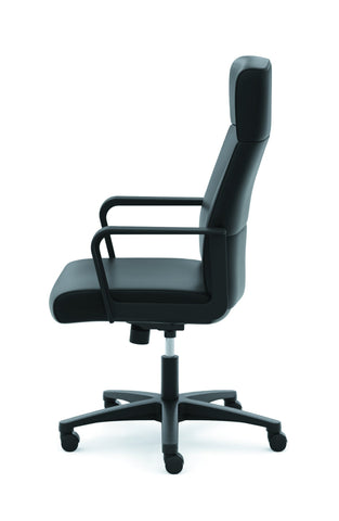 HON Validate High-Back Executive Task Chair, Fixed Arms, in Black Leather (HVL604) ; UPC: 888531643459 ; Image 5