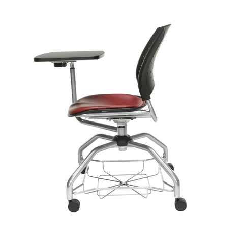 OFM Stars Foresee Series Tablet Chair with Removable Vinyl Seat Cushion - Student Desk Chair, Wine (329T-VAM) ; UPC: 845123094310 ; Image 5