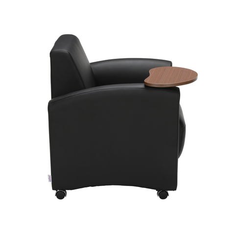 OFM InterPlay Series Single Seat Chair with Bronze Tablet, in Black (821-PU606-BRONZ) ; UPC: 845123031018 ; Image 4