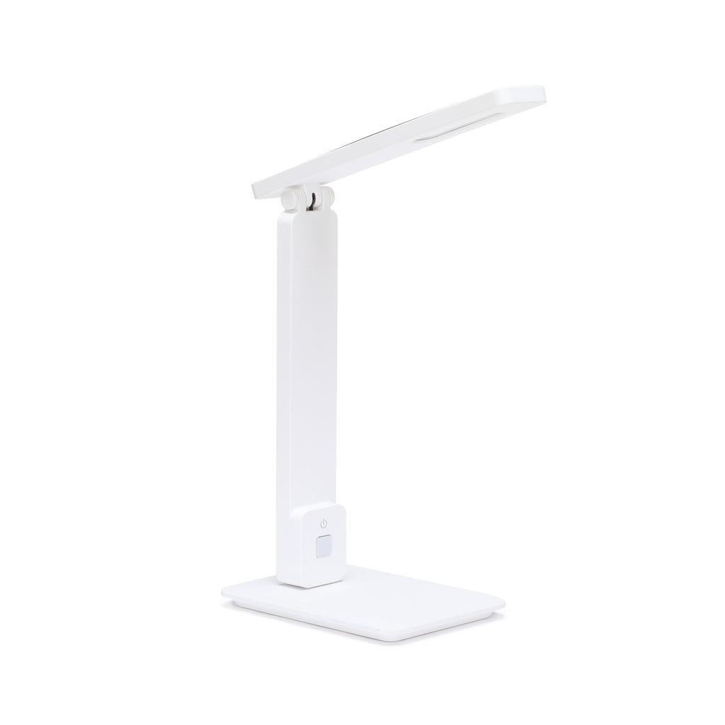 OFM 4025-WHT Industrial LED Desk Lamp with Touch Activated Switch and USB Charging Port, White ; UPC: 192767000840 ; Image 1
