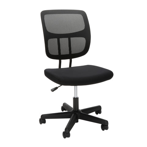 OFM Essentials Series Armless Mesh Office Chair, in Black (ESS-3002) ; UPC: 192767000253 ; Image 1