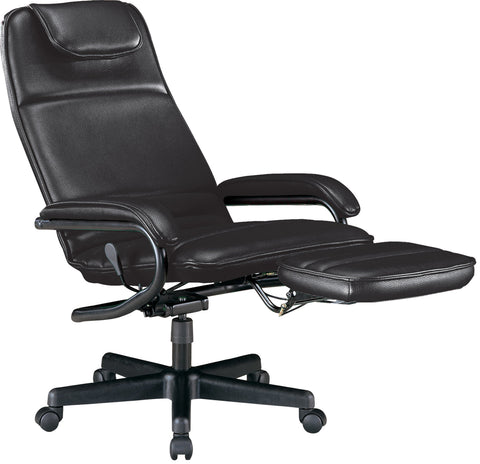OFM Model 680 Ergonomic High-Back Executive Reclining Office Chair with Footrest, Anti-Microbial/Anti-Bacterial Vinyl, Black ; UPC: 811588015368 ; Image 2