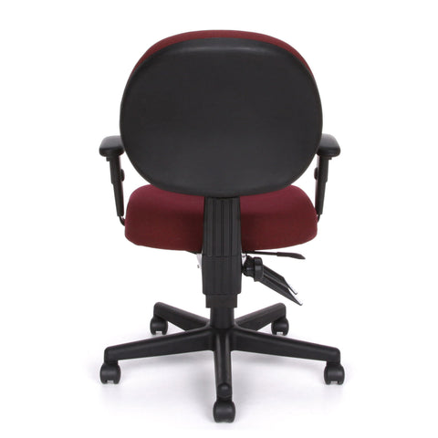 OFM Model 241-AA 24-Hour Ergonomic Multi-Adjustable Upholstered Task Chair with Arms, Burgundy ; UPC: 845123012352 ; Image 5