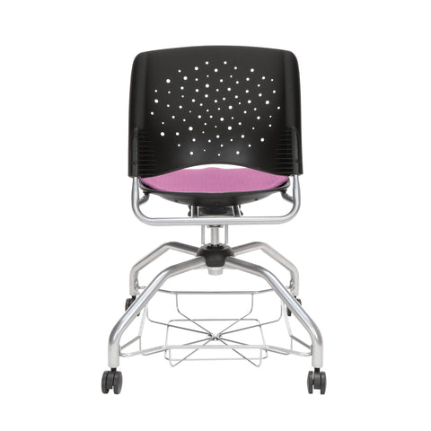 OFM Stars Foresee Series Chair with Removable Fabric Seat Cushion - Student Chair, Plum (329) ; UPC: 845123094037 ; Image 3