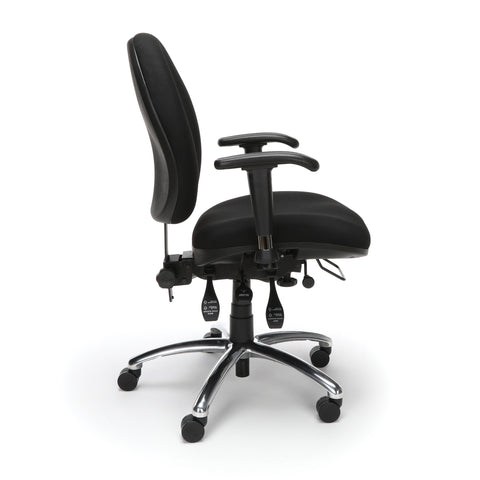 OFM 24 Hour Big and Tall Ergonomic Task Chair - Computer Desk Swivel Chair with Arms, Black (247) ; UPC: 845123031377 ; Image 4