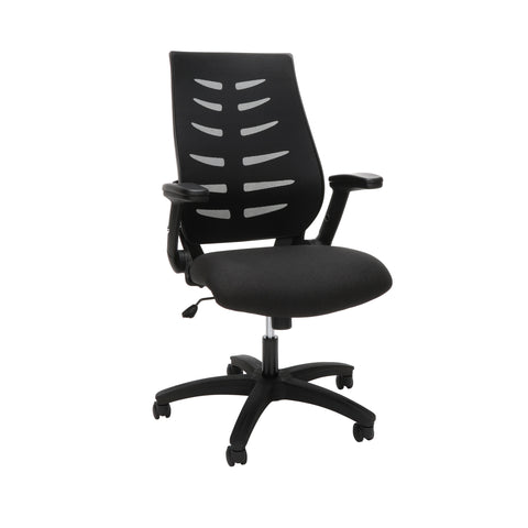 OFM Model 530-BLK Core Collection Midback Mesh Office Chair for Computer Desk, Black ; UPC: 192767000321 ; Image 1