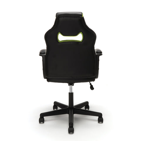 Essentials by OFM ESS-3083 Racing Style Gaming Chair, Green ; UPC: 845123092934 ; Image 3
