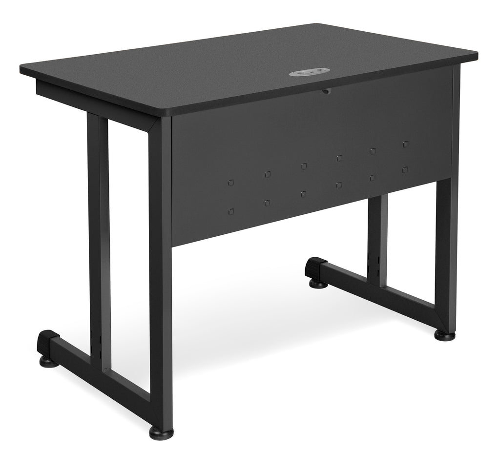 "OFM Model 55139 24"" x 36"" Modular Computer and Training Table, Graphite with Black Frame ; UPC: 811588016983 ; Image 1"