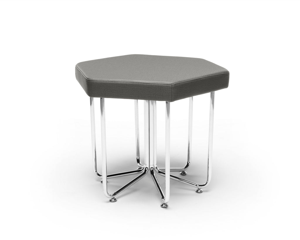 OFM 66-SLT Hex Series Stool with Chrome Frame ; UPC: 845123080054 ; Image 1