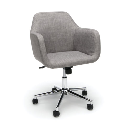 Essentials by OFM ESS-2085 Upholstered Home Office Desk Chair, Grey ; UPC: 845123093092 ; Image 1