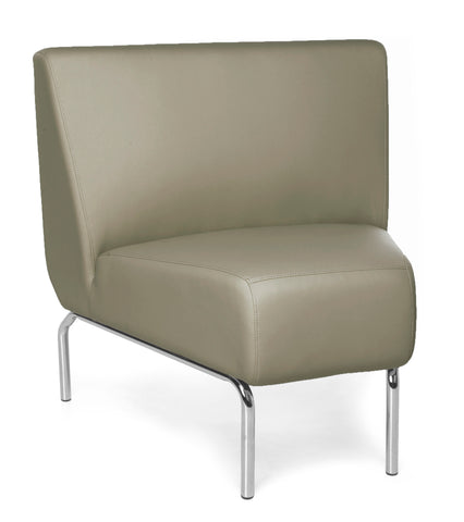 OFM Triumph Series Model 3045 Polyurethane Armless Modular 45 Degree Lounge Chair, Taupe ; UPC: 845123052617 ; Image 1