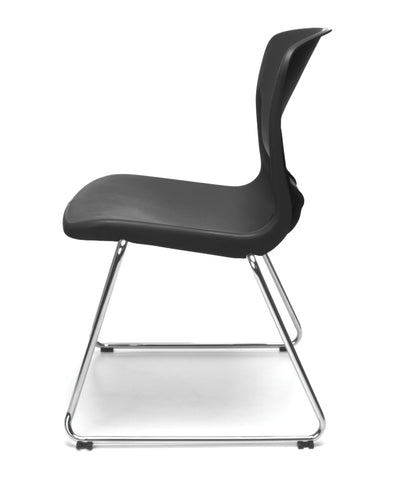 OFM Model 315 Multi-Use Stack Chair, Plastic Seat and Back, Black ; UPC: 845123003664 ; Image 5