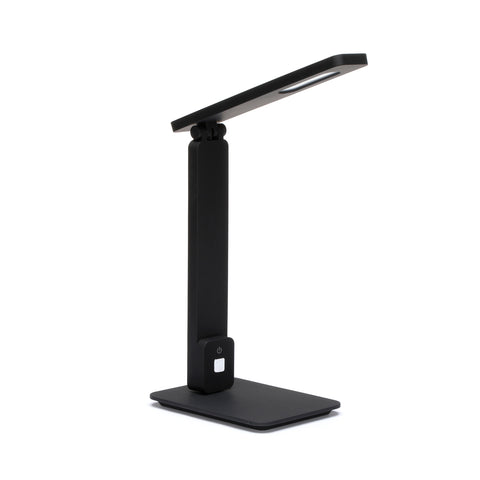 OFM 4025-BLK Industrial LED Desk Lamp with Touch Activated Switch and USB Charging Port, Black ; UPC: 192767000833 ; Image 1