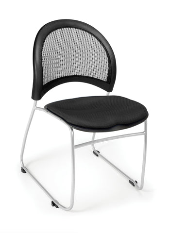 OFM 335-2224 Moon Stack Chair, Black ; UPC: 845123005460 ; Image 1