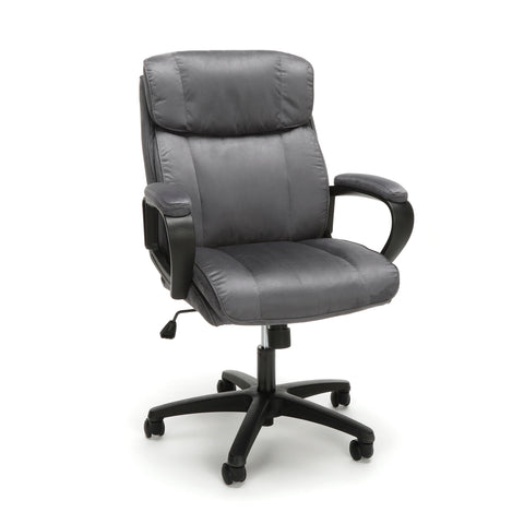 Essentials by OFM ESS-3082 Plush Microfiber Office Chair, Gray ; UPC: 845123095294 ; Image 1