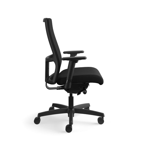 HON Ignition Series Mid-Back Work Chair - Mesh Computer Chair for Office Desk, Black (HIWM2) ; UPC: 745123568005 ; Image 4
