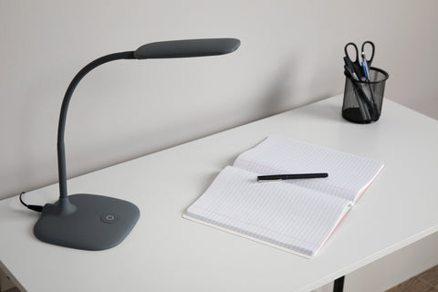 OFM ESS-9003-GRY  Essentials LED Desk Lamp with Touch Control, Gray ; UPC: 192767000567 ; Image 12
