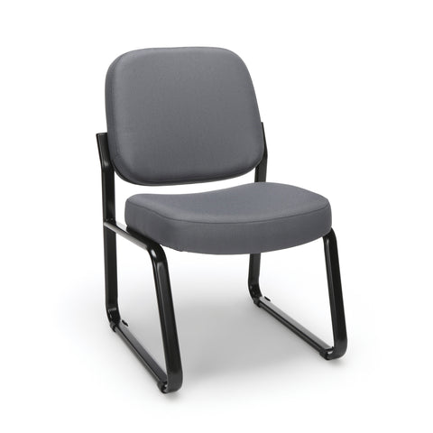 OFM Model 405 Fabric Armless Guest and Reception Chair, Gray ; UPC: 811588014248 ; Image 1