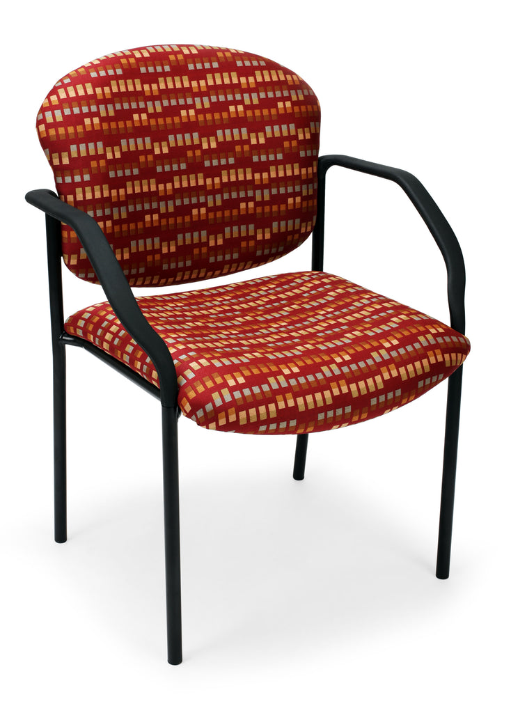 OFM Core Collection Elements Manor Series Guest/Reception Chair with Arms in Cherry Black ; UPC: 845123025864 ; Image 1