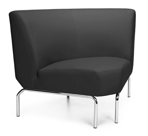 OFM Triumph Series Model 3090 Polyurethane Armless Modular 90 Degree Lounge Chair, Black ; UPC: 845123052662 ; Image 1
