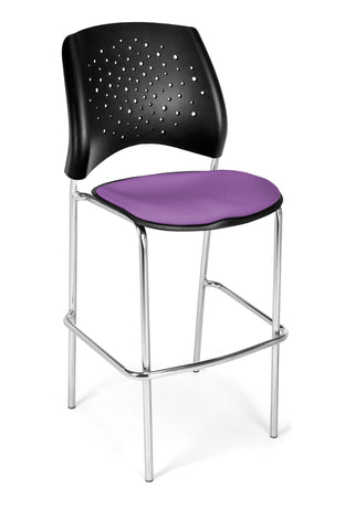 OFM 328C-2214 Stars Cafe Height Chair, Plum ; UPC: 845123005033 ; Image 1