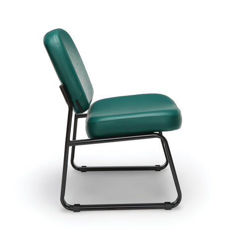 OFM Model 405-VAM Armless Guest and Reception Chair, Anti-Microbial/Anti-Bacterial Vinyl, Teal ; UPC: 811588014323 ; Image 4