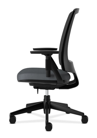 HON Lota Office Chair - Mid Back Mesh Desk Chair or Conference Room Chair, Charcoal (H2281) ; UPC: 881728407841 ; Image 5