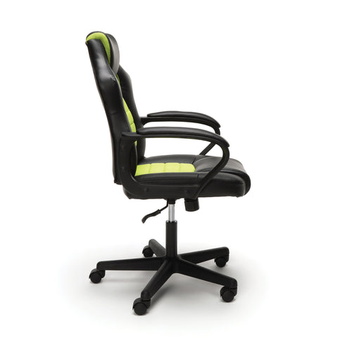 Essentials by OFM ESS-3083 Racing Style Gaming Chair, Green ; UPC: 845123092934 ; Image 4
