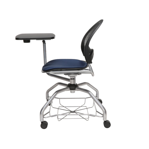 OFM Moon Foresee Series Tablet Chair with Removable Fabric Seat Cushion - Student Desk Chair, Navy (339T) ; UPC: 845123094594 ; Image 5